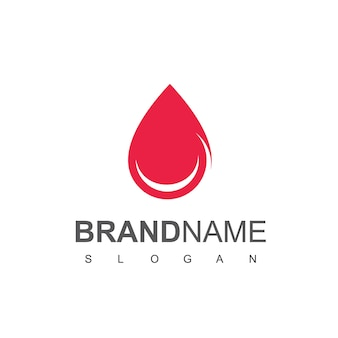 Inspiration de conception de logo de sang