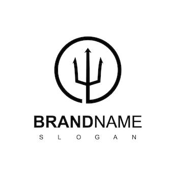 Inspiration de conception de logo de trident de cercle