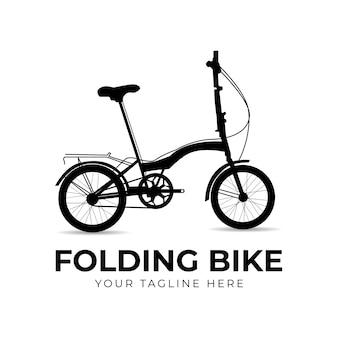 Inspiration de conception de logo de vélo pliant