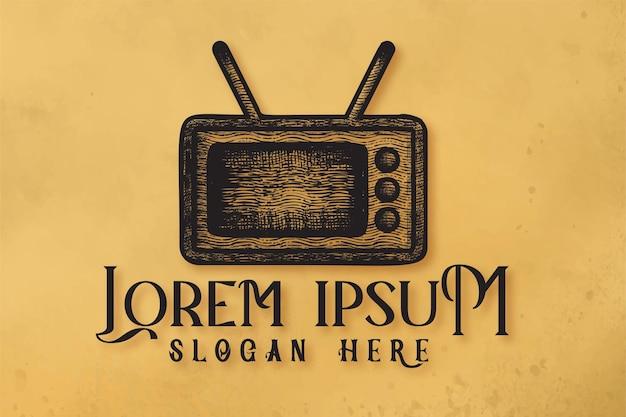 Inspiration de conception de logo de vieux téléviseurs