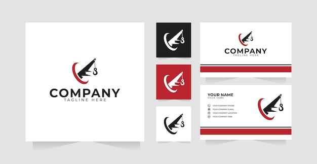 Inspiration de conception de logo de voiture de remorquage et carte de visite