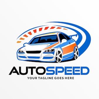 Inspiration de conception de logo de voiture de vitesse automatique