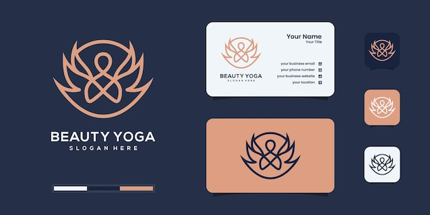 Inspiration de conception de logo de yoga de lotus