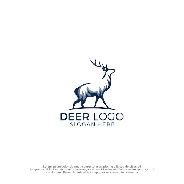 Inspiration de conception de modèle de vecteur de logo de cerf