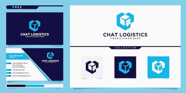 Inspiration du logo de la boîte de discussion et conception de la carte de visite