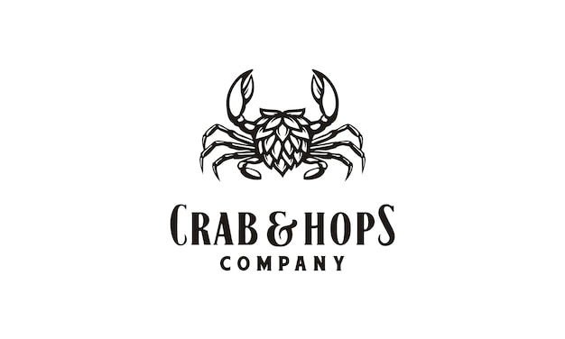 Inspiration du logo du crabe et du houblon