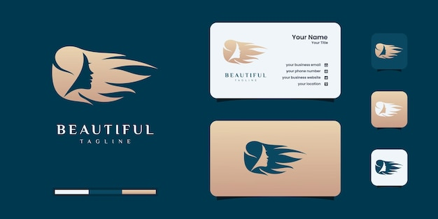 Inspiration du logo des femmes de beauté pour les soins de la peau, les salons et les spas