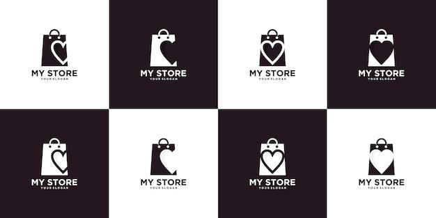 Inspiration du logo de mon magasin avec concept de sac à provisions.