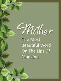 Inspiration fête des mères et citations de motivation typographiques