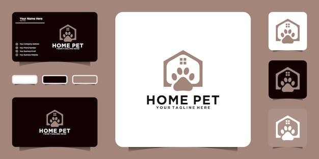 Inspiration et icônes de conception de logo de maison d'animal familier, symboles de carte de visite