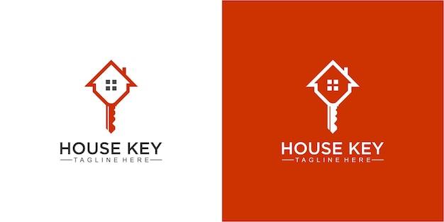 Inspiration impressionnante de conception de logo de maison et de clé