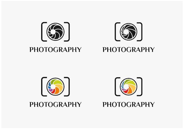 Inspiration de logo d'appareil photo d'objectif de photographie