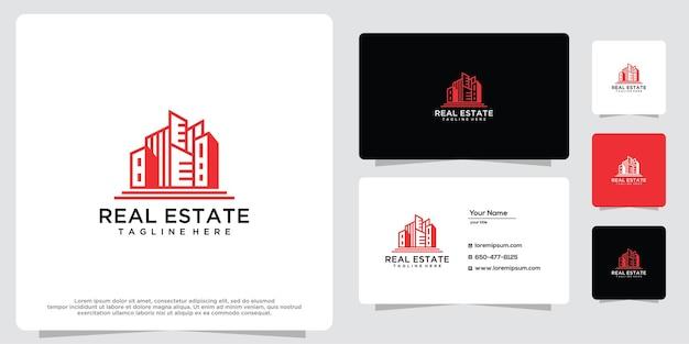 Inspiration de logo de concept de bâtiment d'architecture moderne