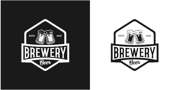 Inspiration de logo d'insigne de bière vintage