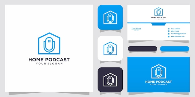 Inspiration logo podcast maison