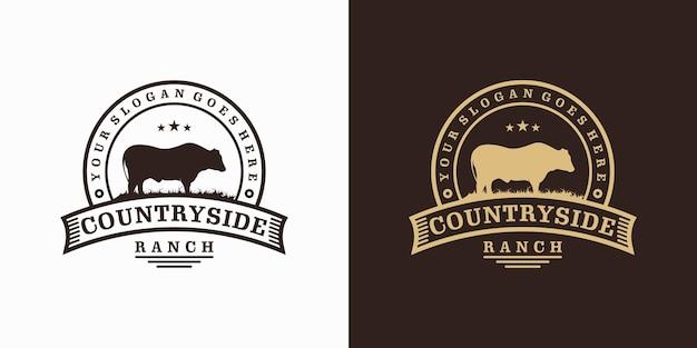 Inspiration de logo de ranch vintage