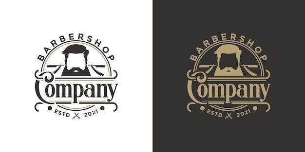 Inspiration de logo de salon de coiffure vintage