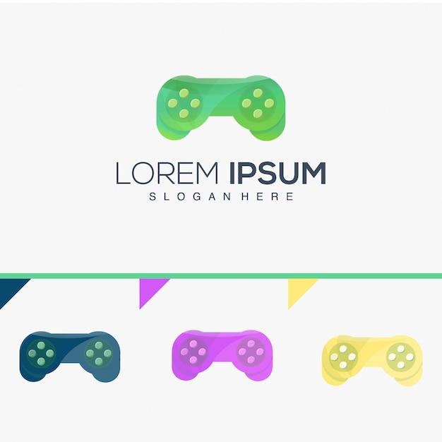 Inspiration de logo de sticks de jeu