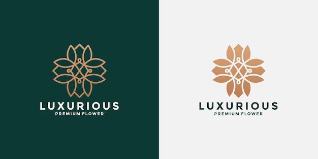 Inspiration minimaliste de conception de logo de lotus plat et de ligne