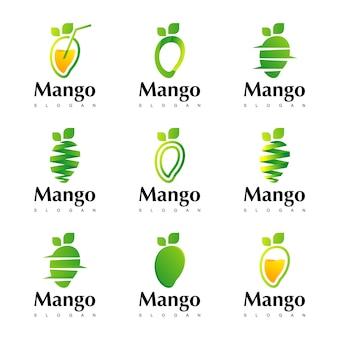 Inspiration pour la conception de logo à la mangue
