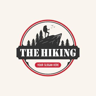 Inspiration pour la conception de logo de randonnée,