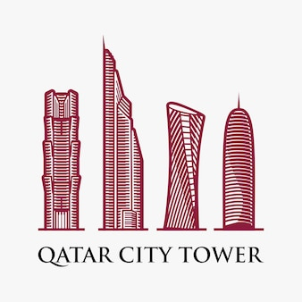 Inspiration pour le logo du qatar city tower