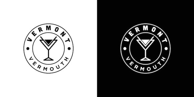 Inspiration vintage du logo en verre du vermont
