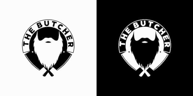 Inspiration vintage de logo de boucher