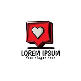 Instagram comme, illustration d'icône de coeur d'amour
