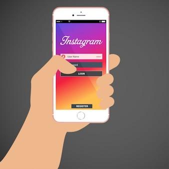 Instagram connexion page
