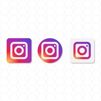 Instagram paquet de logo