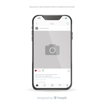 Instagram post template sur iphone