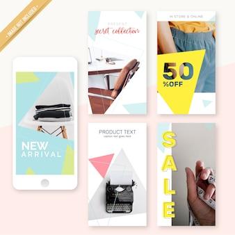 Instagram stories design minimaliste