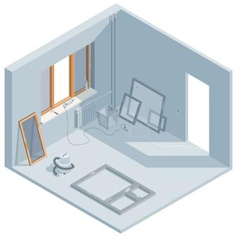 Installation de fenêtres isométriques