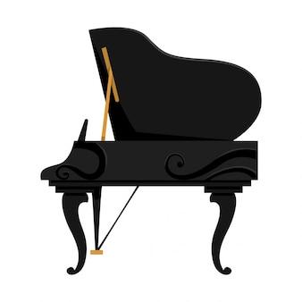 Instrument de clavier musical. image isolée d'un piano. banque d'images - matériel de musicien. outil pour mélomane