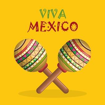 Instrument de festival de maracas mexicain