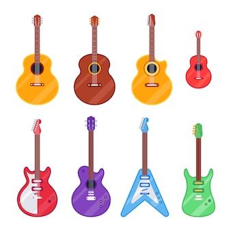 Instrument de guitare plat