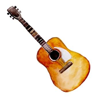 Instrument de musique aquarelle