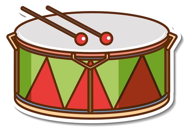 Instrument de musique tambour autocollant