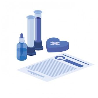 Instruments de laboratoire sur blanc