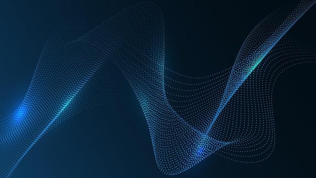 Intelligence artificielle, arrière-plan de la technologie ai. concept de données volumineuses. hi-tech communication concept innovation abstrait illustration vectorielle