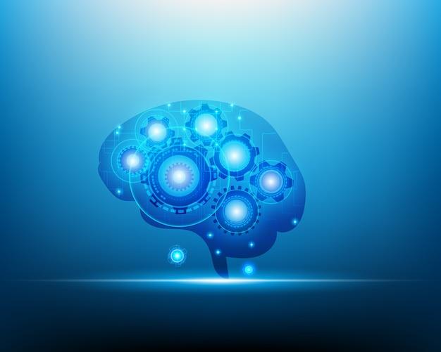 Intelligence artificielle concept du cerveau robot