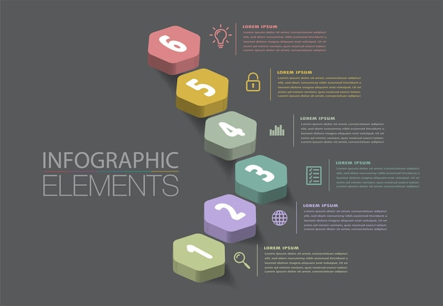 Intensifier le vecteur d'infographie d'escalier de concept réussi d'affaires