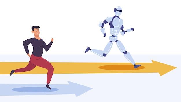 Interactions de robot dans un design plat