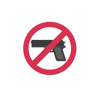 Interdisant le signe pour l'arme
