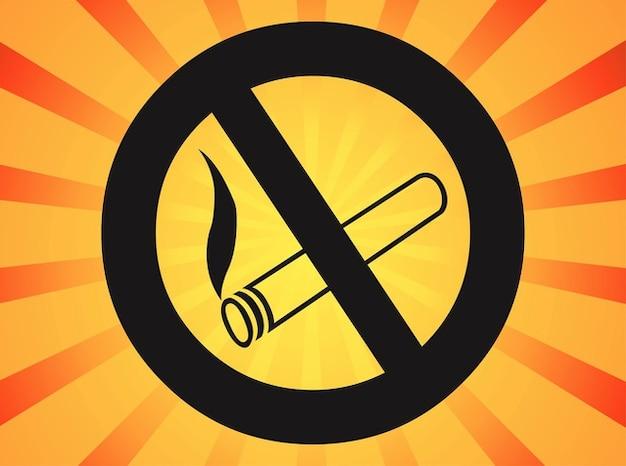 Interdit pas de vecteur de signe de fumer