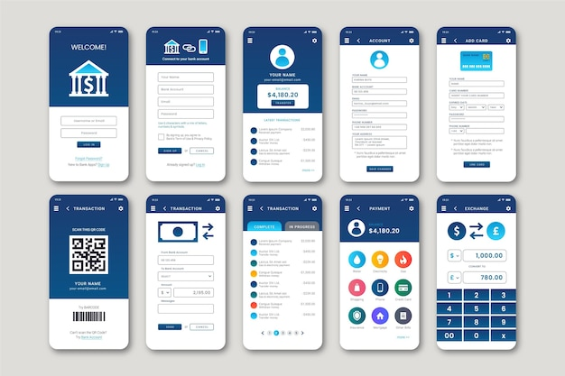 Interface d'application bancaire