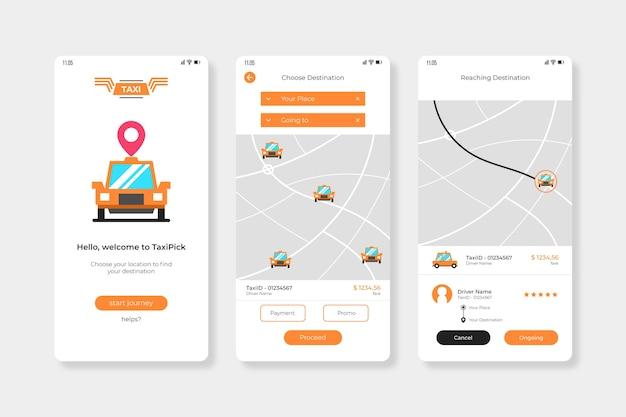 Interface de l'application cab