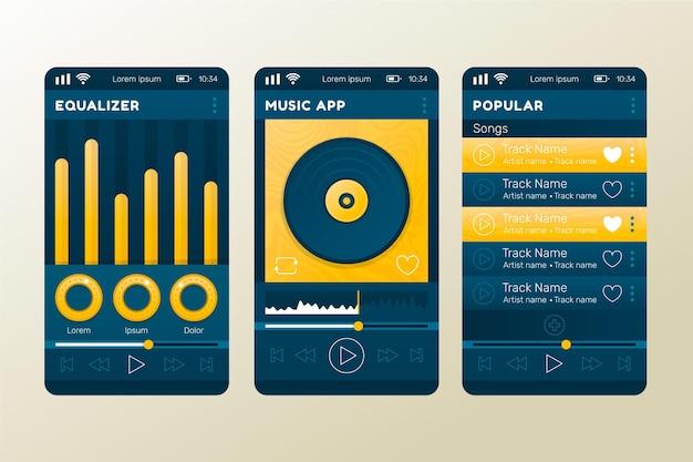 Interface d'application du lecteur de musique