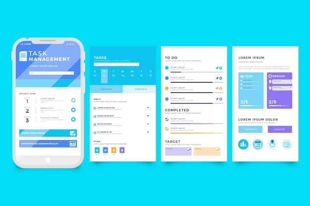 Interface de l'application de gestion des tâches